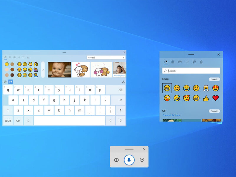 Windows 10 is getting a new touch keyboard with GIFs, emoji, and better voice typing